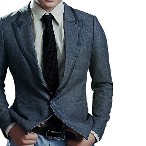 Black Knit Tie (Men's 2'' Vintage Casual Formal Skinny Knit Tie Knitting Necktie (Black))