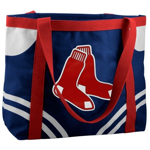 MLB Boston Red Sox Navy Blue Large Canvas Tote Bag (Purse Red Sox Boston)