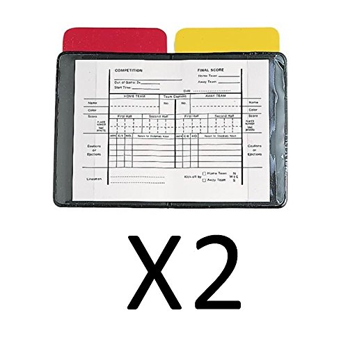 Champion Heavy Duty Sports Soccer Referee Red Yellow Wallet Score Cards (Scorecard Wallet)