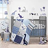 Bedtime Originals Roar Dinosaur 3 Piece Crib Bedding Set, Blue/Gray (Pack of 3)