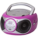 TREVI RADIOREG. CD 512 FUCSIA LETTORE CD,CD-R/RW, RADIO, DISPLAY LED, AUX in