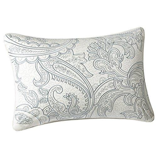 Harbor House Chelsea Fashion Cotton Throw Pillow, Traditinal Paisley Oblong Decorative Pillow, 12X18, Ivory