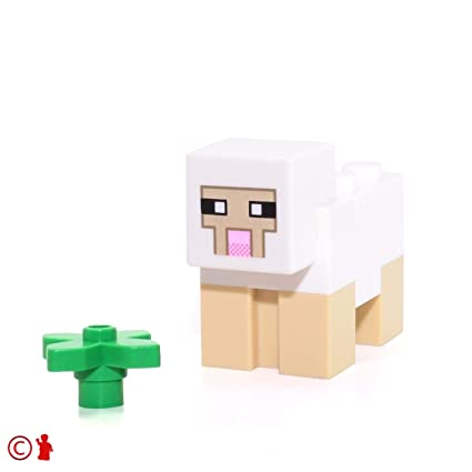 Amazon.com: LEGO Minecraft Minifigure Ovejas: Toys & Games