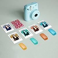 Neewer 25-en-1 Kit Accesorios para Fujifilm Instax Mini 70: Caja de Cámara/Álbum/Filtros de Color/Marcos de Mesa de Cine/Marcos de Pared/Pack(30) Etiquetas de Frontera/Correa(Negro): Amazon.es: Electrónica