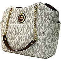 MICHAEL Michael Kors Women's Jet Set Travel Large Chain Shoulder Tote Printed Handbag