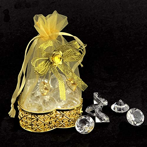 - JC HUMMINGBIRD 48PC Fillable Heart Crown for Table Decorations, Party Favors, Candies, Wedding