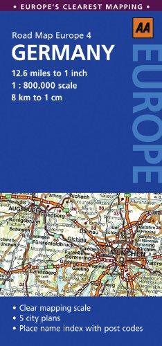 Road Map Germany Road Map Europe AA Publishing 9780749568382