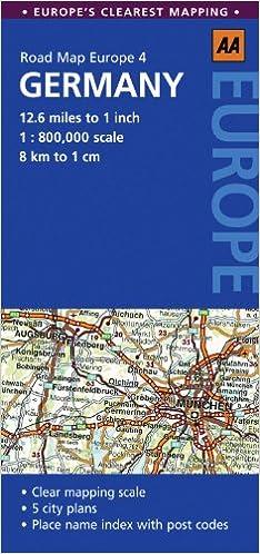Road Map Germany (Road Map Europe): AA Publishing: 9780749568382 ...