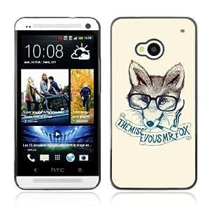 YOYOSHOP [Clever & Stylish Hipster Fox] HTC One M7 Case