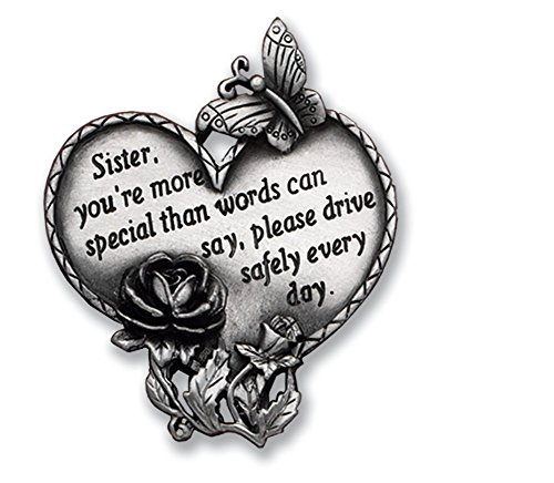 - Cathedral Art KVC320 Heart Visor Clip, Sister, 2-3/4-Inch
