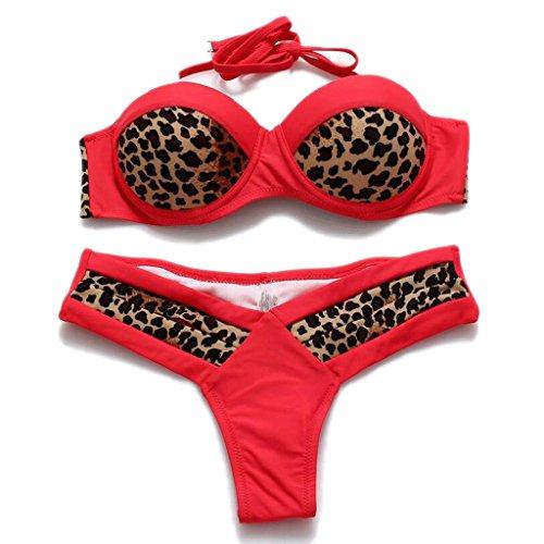 Traje de baño de moda cebra patrón mezcla de colores leopardo split bikini balneario traje de baño de playa D
