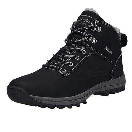 LuckyGirls Botas de Trepadoras Terciopelo Zapatillas Casual Hombres Botas de Media Caña Cómodas Calzado Moda Zapatos