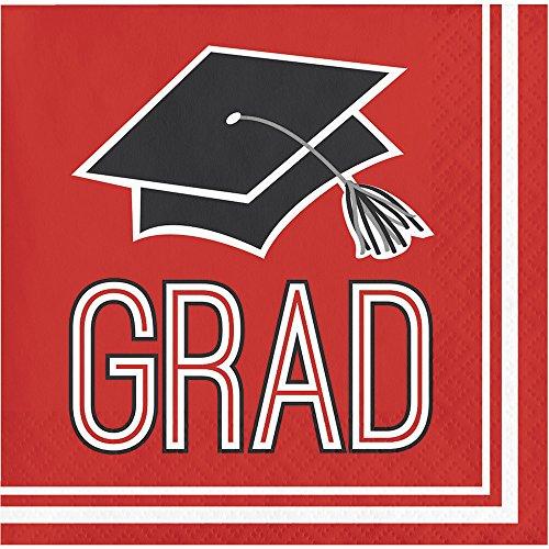 Congrats Grad Beads (Congrats Grad Red Beverage Napkins (36 ct))