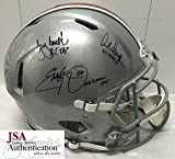 Archie Griffin, Eddie George, Troy Smith Signed / Autographed Ohio State Buckeyes Full Size Authentic Proline Football Helmet - JSA Certified