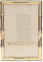Lawrence Frames Moldura de metal com design de bambu, 10 x 15, ouro