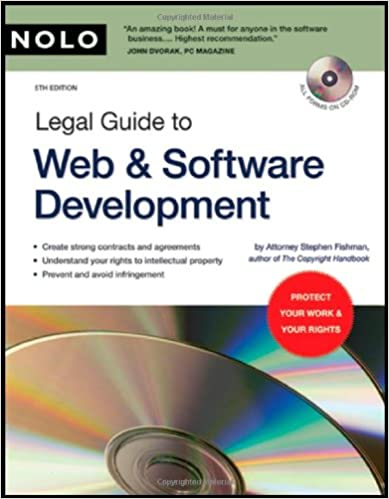 Legal Guide to Web & Software Development (book with CD-Rom