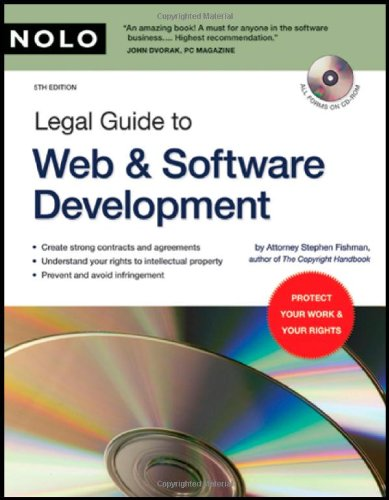 Legal Guide to Web & Software Development (book with CD-Rom) by Nolo
