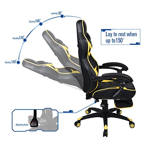 Gaming Chair For Adults With Footrest High Back Swivel