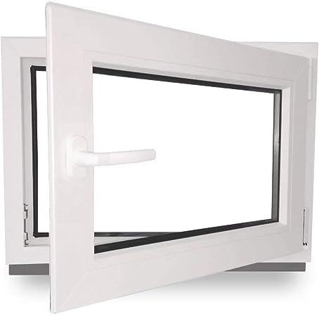 Premium Fenster Kellerfenster Kunststofffenster Breite BxH 40x60 DIN links 40 cm 2 fach Verglasung Alle Gr/ö/ßen Dreh Kipp Wei/ß