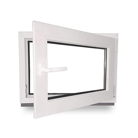 Dreh- /& Kippfunktion 2 fach Verglasung innen Golden Oak//au/ßen Golden Oak BxH: 100 x 40 cm 60 mm Profil Fenster Kellerfenster 1000 x 400 mm DIN Links