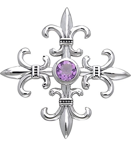 Jewelry Trends Sterling Silver and Amethyst Croix La Me
