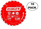 10 PACK Freud D0724A Diablo 7- 1/4-Inch 24 Tooth ATB Framing Saw...