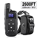 Meyoung Dog Training Collar - Remote Controlled 2600 FT, 3 Modes (Shock, Vibration, Beep) Waterproof Rechargeable Dog Shock Collars Safe for Dogs (6Lbs - 100Lbs)