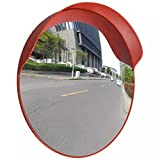 vidaXL 24'' Outdoor Road Traffic Convex PC Mirror Wide Angle Driveway Safety