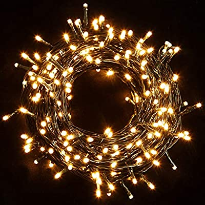 Twinkle Star 200 LED 66FT Fairy String Lights,Christmas Lights with 8 Lighting Modes,Mini String Lights Plug in for Indoor Outdoor Christmas Tree Garden Wedding Party Decoration