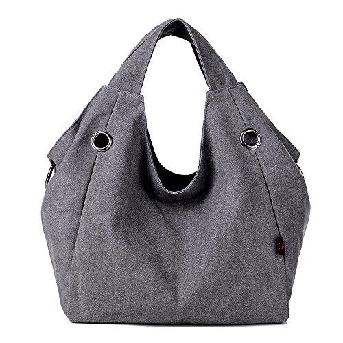 Aoligei Sac en toile toile unique sac à bandoulière casual Canvas sac à main féminin D