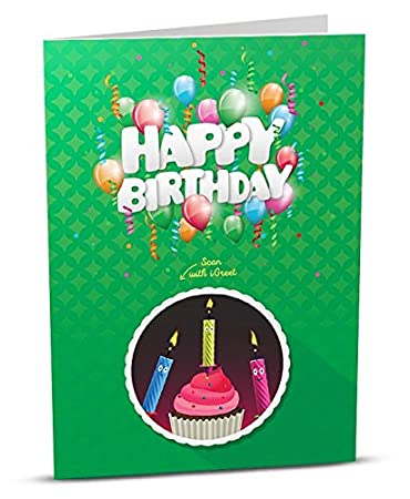 Amazon igreet augmented reality greeting card happy birthday igreet augmented reality greeting card happy birthday green m4hsunfo