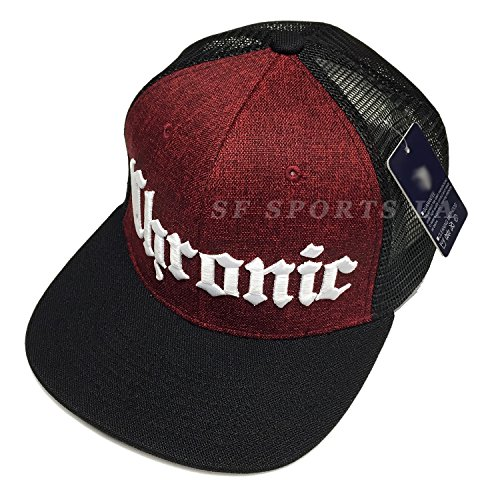 CHRONIC Marijuana Leaf Weed Mesh Summer Hat Flat Hipster Snapback Cap 5 Color (Maroon - Snapbacks Hipster