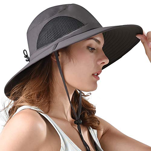 729618d9e0733 Sun Hat Wide Brim Breathable Outdoor Boonie Hats for Men   Women Hiking