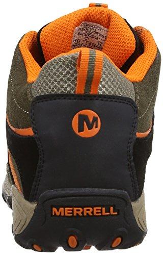 Merrell Cham Mid Lc Wtpf - Botas de montaña Olive/Orange