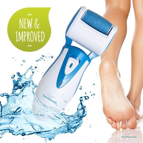 Electric Callus Remover Rechargeable CR900 by Own Harmony (Tested Most Powerful) Best Pedicure Tools with 2 Rollers - Professional Spa Electronic Foot File - Micro Pedi Health Feet Care