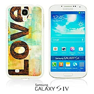 OnlineBestDigital - Typography Pattern Hard Back Case for Samsung Galaxy S4 IV I9500 / I9505 - Love