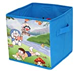 PrettyKrafts Doraemon Printed Multi-Utility Bag - Storage Box - Toys Organizer with Lid - Blue - Small Sized