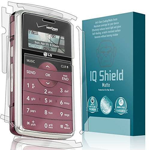 IQ Shield Matte Full Coverage Anti-Glare Full Body Skin + Screen Protector for LG ENV2 (VX9100) Anti-Bubble Film