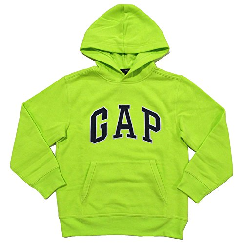 Gap Boys Fleece Arch Logo Pullover Hoodie  Xx Large  Lime Green