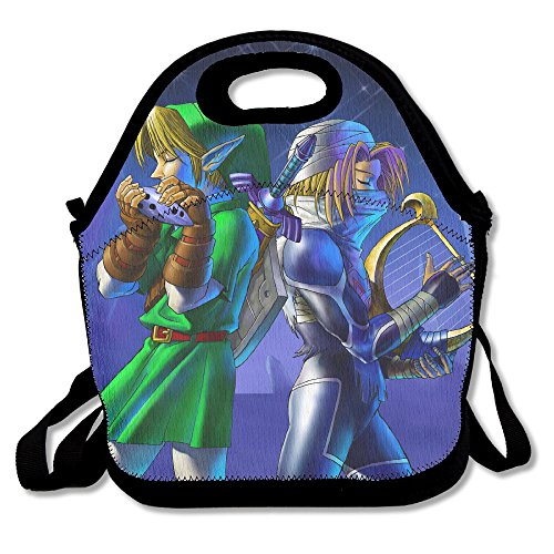 Legend Of Zelda Ocarina Of Time Travel Tote Lunch Bag