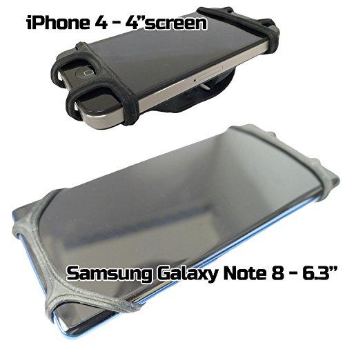 Niveau supérieur pour vélo Support pour téléphone portable solide Flexible étanche universel pour toutes les tailles du téléphone -