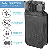 Lewis N. Clark Safebox Portable Safe with Anti Theft Combination Lock and Slash Resistant Material to Protect Wallet, iPhone and Valuables at the Beach, Pool, Camping + Hotel, Medium