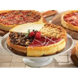 1 Eli's Sampler Cheesecake & 3 Lou Malnati's Chicago-Style Deep Dish Pizzas (1 Sampler 1 Cheese 1 Sausage 1 Pepperoni)