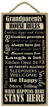 Amazon com: Grandparents House Rules Funny Sign Motivational Home