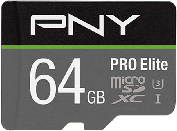 PNY Pro Elite microSDXC card 64GB Class 10 UHS-I U3 100MB/s A1 V30