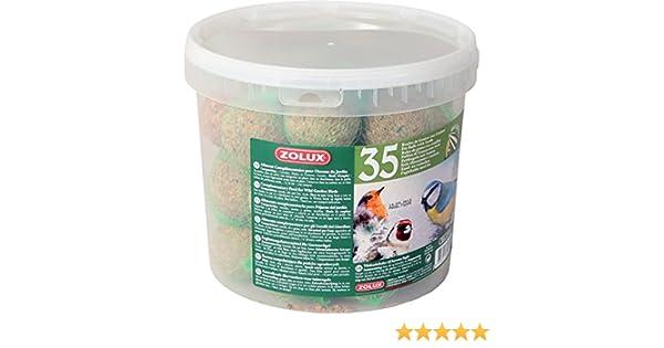 Zolux - Cubo de 35 bolas de grasa con red para pájaros (90 g): Amazon.es: Productos para mascotas