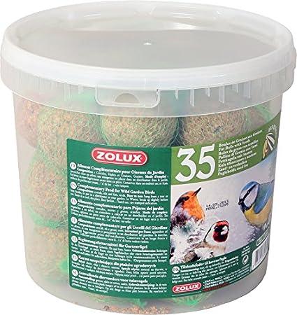 Zolux - Cubo de 35bolas de grasa con red para pá ...
