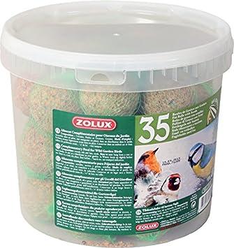 Zolux Seau de 35 Boules de Graisse de 90g avec Filet pour Oiseaux du Ciel 93e73cace121