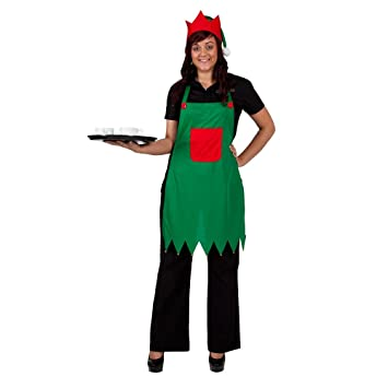 Childs Elf Christmas Xmas Fancy Dress Up Outfit Nativity Pantomime Costume