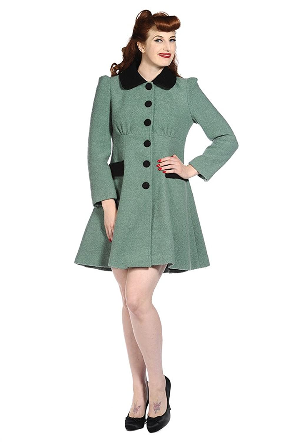 Retro Vintage Style Coats, Jackets, Fur Stoles Banned Vintage Coat £88.99 AT vintagedancer.com